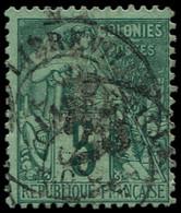 O GABON - Poste - 8, Signé Scheller: 25 S. 5c. Vert - Oblitérés