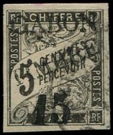 O GABON - Poste - 11, Signé Scheller: 15 S. 5c. Noir - Oblitérés