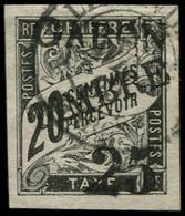O GABON - Poste - 13, Signé Calves: 25 S. 20c. Noir - Oblitérés