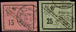 O GABON - Poste - 14/15, Signés Brun + Certificat Roumet - Oblitérés
