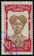 O GABON - Poste - 47, 2f. Femme Bantou - Oblitérés