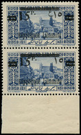 """** GRAND LIBAN - Poste - 96/96a, Paire, 1 Exemplaire Chiffre Arabe """"5"""" Renversé, Normal*: 15p. S. 25p. Bleu (Maury) - Unused Stamps"""