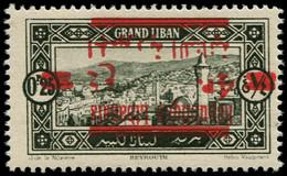 ** GRAND LIBAN - Poste - 119a, Surcharge Renversée: 4p. S. 0p25 (Maury) - Unused Stamps