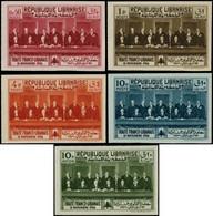 """** GRAND LIBAN - Poste - Maury 149A/D +  PA 56A, Non Dentelés, Non émis """"Traité Franco-Libanais"""" (Maury) - Unused Stamps"""