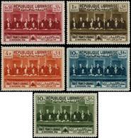 """** GRAND LIBAN - Poste - Maury 149A/D + Pa 56A, Non émis, """"Traité Franco-Libanais"""" (Maury) - Unused Stamps"""