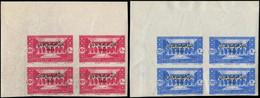 ** GRAND LIBAN - Poste - 187/88, Blocs De 4 Non Dentelés, Coin De Feuille: Congrès Médical (Maury) - Unused Stamps