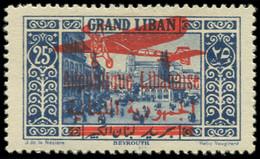 * GRAND LIBAN - Poste Aérienne - 37, Signé Brun: 25p. Bleu - Unclassified