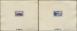 EPL GRAND LIBAN - Poste Aérienne - 65 + 70, Complet Série De 1937, 2 épreuves De Luxe (Maury) - Airmail