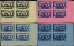 ** GRAND LIBAN - Taxe - 37/40, 4 Blocs De 4 Non Dentelés, Coin De Feuille, 40 Gomme Altérée (Maury) - Postage Due