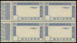 ** GUINEE - Poste Aérienne - 15a, Sans Le Centre Ni La Faciale, Bloc De 4 Bdf: 10f. Bleu (Maury) - Non Classés