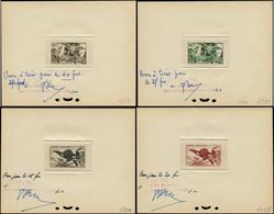 """EPT GUYANE - Poste - 201/17, 17 épreuves D'atelier Signées, """"bon à Tirer"""" Pour La Couleur, Complet: Aras - Unused Stamps"""