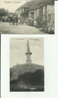 21 - Cote D'Or - Vaux - Saules - Rue Principale - Café Zarini - Belle Animation - Statue De La Vierge - 2 Cartes- - Other Municipalities