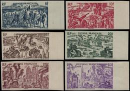 ** GUYANE - Poste Aérienne - 29/34, Non Dentelés, Bord De Feuille: Tchad Au Rhin (Maury) - Unused Stamps