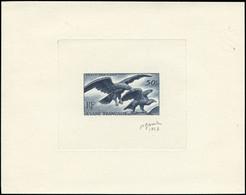 EPA GUYANE - Poste Aérienne - 35, épreuve D'artiste En Bleu, Signée Gandon 1947: 50f. Aigles - Unclassified