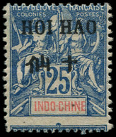 * HOI-HAO - Poste - 24, Piquage à Cheval: 25c. Bleu - Neufs