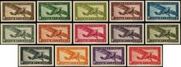 ** INDOCHINE - Poste Aérienne - 1/14, Sauf 4A + 8A + 10A Complet, Non Dentelés - Airmail