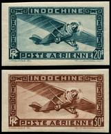 ** INDOCHINE - Poste Aérienne - 46/47, Non Dentelés - Airmail