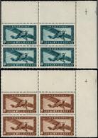 ** INDOCHINE - Poste Aérienne - 46/47, Blocs De 4 Coin De Feuille - Airmail