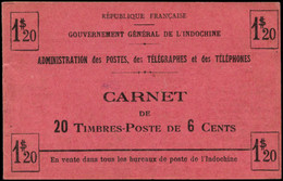 ** INDOCHINE - Carnets - Maury 6, Carnet Complet, Gomme Coloniale - Autres