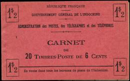 """** INDOCHINE - Carnets - Maury 6a, Couverture """"1$2"""" Au Lieu De """"1$20"""", Carnet Complet, Légère Rousseur Habituelle - Autres"""