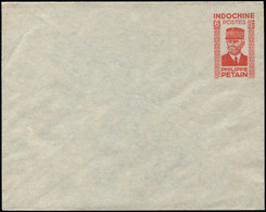 N INDOCHINE - Entiers Postaux - ACEP, En 64A, Type Pétain, 6c. Rouge - Autres