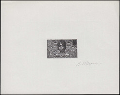 EPA MADAGASCAR - Poste - 166, épreuve D'artiste En Noir, Poinçon Sans Faciale, Signée: Femme Betsileo - Non Classés