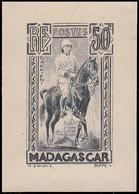 EPA MADAGASCAR - Poste - 184, Type Non Adopté (tête à Droite), épreuve D'artiste En Gris: 50c. Galliéni - Non Classés