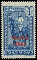 """** MADAGASCAR - Poste - 243, Signé Scheller, 3c. """"France Libre"""", Galliéni (Maury) - Neufs"""