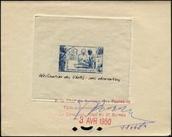 EPT MADAGASCAR - Poste - 320, épreuve D'atelier, Bon à Tirer En Bleu (1104), Datée Et Signée 03/04/1950: Œuvres Sociales - Neufs