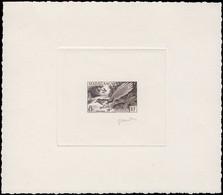 EPA MADAGASCAR - Poste - 323, épreuve D'artiste En Noir, Signée Gandon: 8f. Oiseau  Uratelornis - Non Classés