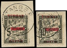 O MAROC - Poste - 9/10, Oblitérés Sur 2 Fragments, Dont 10 Signé Roumet - Used Stamps