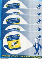 """BUVARDS-5 Exemplaires""""""""PILE LECLANCHE"""""""" Neufs Impeccables - L"""