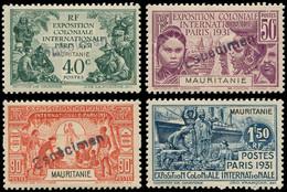 """* MAURITANIE - Poste - 62/65, Surchargés """"Espècimen"""": Expo De 1931 - Neufs"""