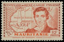 ** MAURITANIE - Poste - 95, Grande Légende, Signé: René Caillié - Neufs