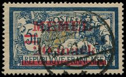 O MEMEL - Poste - 33, Très Bon Centrage: 20m. S. 5f. Merson - Used Stamps