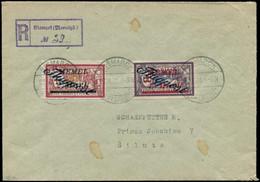 LET MEMEL - Poste Aérienne - 13/14, Sur Lettre Recommandée Du 27/7/21, Signé Calves: Merson (Maury) - Covers & Documents