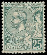 * MONACO - Poste - 16, Centrage Courant, Charnière Forte: 25c. Vert - Unused Stamps