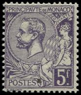 ** MONACO - Poste - 46, Prince Albert 1er, 5f. Violet - Unused Stamps