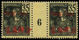 """** MONG-TZEU - Poste - 26, Paire Millésime """"6"""", Tirage 236 (*sur Millésime): 35c. Noir S. Jaune - Unused Stamps"""