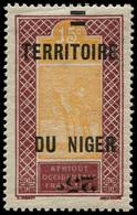 """* NIGER - Poste - 18a, Surcharge """"25"""" Renversée, Signé Brun: 25c.s. 15c. Méhariste - Neufs"""