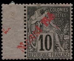 * NOSSI-BE - Poste - 23, Surcharge à Cheval Sur Bdf: 10c. Noir S. Lilas - Unused Stamps