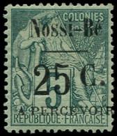 * NOSSI-BE - Taxe - 10, Signé Roumet, Bon Centrage: 25c. S. 5c. Vert - Neufs