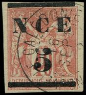 O NOUVELLE-CALEDONIE - Poste - 2, Signé Mercier: 5 S. 40c. Rouge - Usados