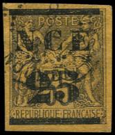 O NOUVELLE-CALEDONIE - Poste - 4, Signé Scheller: 25 S. 35c. Violet S. Jaune - Usados