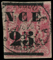 O NOUVELLE-CALEDONIE - Poste - 5, Signé Scheller (pli): 25 S. 75c. Rose - Used Stamps