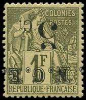 ** NOUVELLE-CALEDONIE - Poste - 10a, Surcharge Renversée: 5c. S. 1f. Olive (Maury) - Unused Stamps