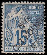* NOUVELLE-CALEDONIE - Poste - 26, Signé Brun: 15c. Bleu - Unused Stamps