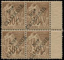 * NOUVELLE-CALEDONIE - Poste - 30, Bloc De 4, Signé Scheller: 30c. Brun - Unused Stamps