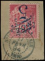 O NOUVELLE-CALEDONIE - Poste - 38a, Surcharge Renversée Sur Fragment: 5c. S. 75c. Rose - Used Stamps