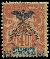 "* NOUVELLE-CALEDONIE - Poste - 77b, Sans Le ""i"": 40c. Rouge-orange - Unused Stamps"